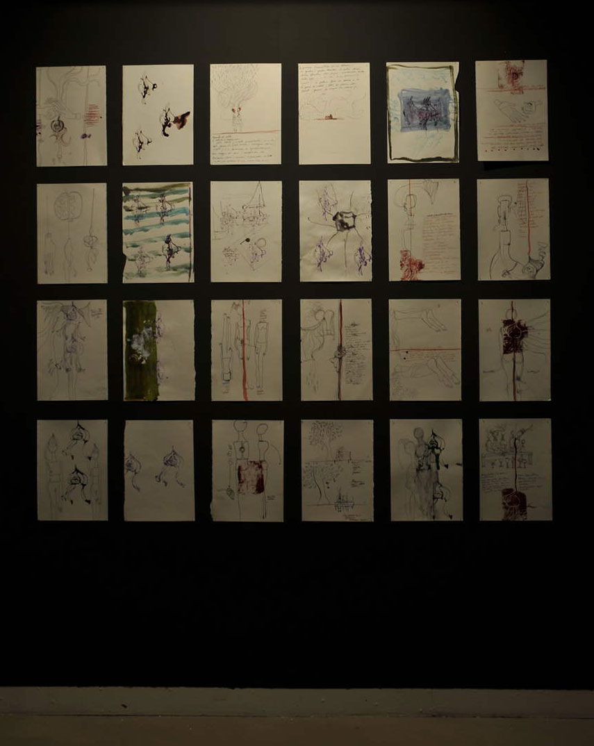 Sentire il soffio/2014Formelle in ceramica, disegni, poesia;